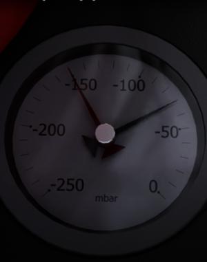 Grafische Darstellung eines Ruwac USPs zeigt Überwachung des Manometers