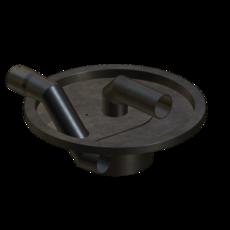 Vorabscheiderdeckel aus Stahl verzinkt für Behältergröße 35-50 Liter Artikel 22941 Ruwac