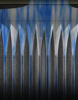 Grafische Darstellung eines Ruwac USPs zeigt die Partikelfilterung beim DS6 mit Taschenfilter