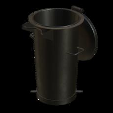 Vorabscheiderbehälter aus Stahl verzinkt Fassungsvermögen 50 Liter Artikel 10962 Ruwac