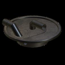 Vorabscheiderdeckel aus Stahl verzinkt für Behältergröße 110 Liter Artikel 10938 Ruwac